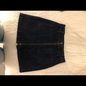 Madewell denim full zipper skirt!